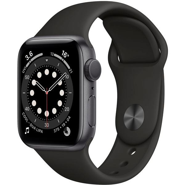 Смарт часы Apple Watch Series 6 40mm Space Gray Aluminium Black Band MG133