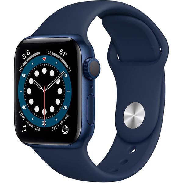 Смарт часы Apple Watch Series 6 GPS 40mm Blue Aluminium Case with Deep Navy Sport Band (MG143)