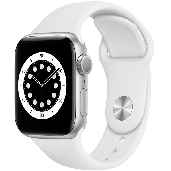 Смарт часы Apple Watch Series 6 GPS 40mm Silver Aluminium Case with White Sport Band (MG283)