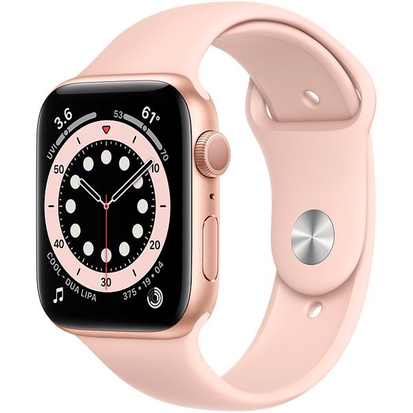 Смарт часы Apple Watch Series 6 44mm Gold Aluminium Pink Sand Band M00E3