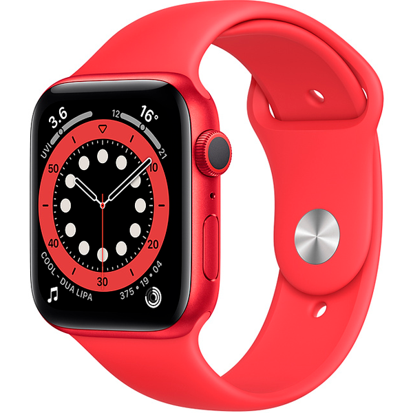 Смарт часы Apple Watch  Series 6 44mm Red Aluminium Red Band M00M3