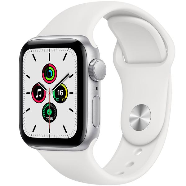 Смарт часы Apple Watch SE GPS 40mm Silver Aluminium Case with White Sport Band (MYDM2)