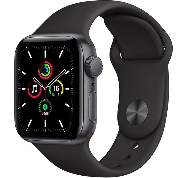 Смарт часы Apple Watch SE 40mm Space Gray Aluminium Black Band MYDP2