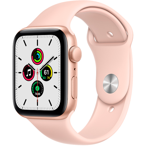 Смарт часы Apple Watch SE GPS 44mm Gold Aluminium Case with Pink Sand Sport Band (MYDR2)