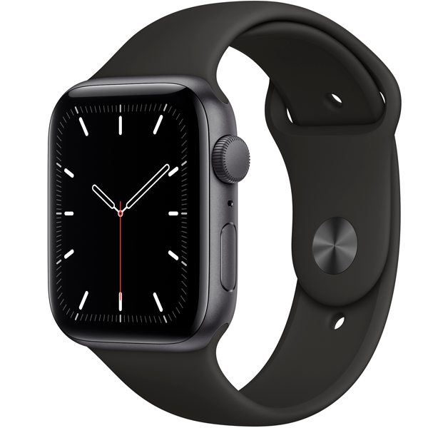 Смарт часы Apple Watch SE 44mm Space Gray Aluminium Black Band MYDT2