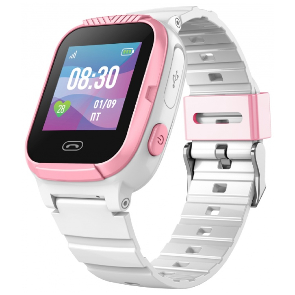 Смарт часы Jet Kid Tiny белый+розовый