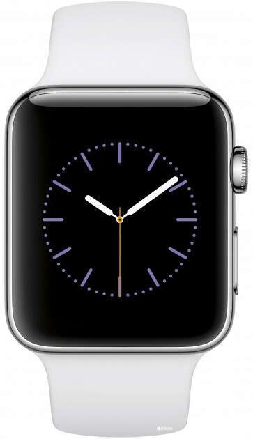 Смарт часы Apple Watch Series 2 Silver, спортивный ремешок белого цвета (MNPR2)
