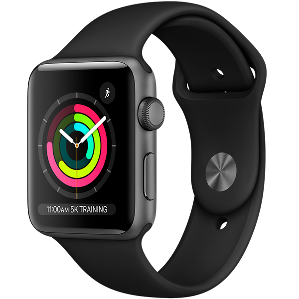 Cмарт часы Apple Watch Series 3 GPS 38mm Space Grey with Sport Band (MQKV2)