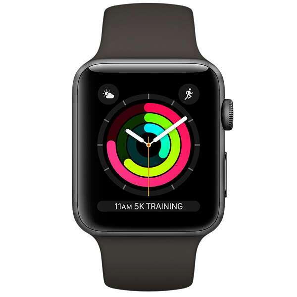 Cмарт часы Apple Watch Series 3 GPS 38mm Space Grey with Sport Band (MR352)