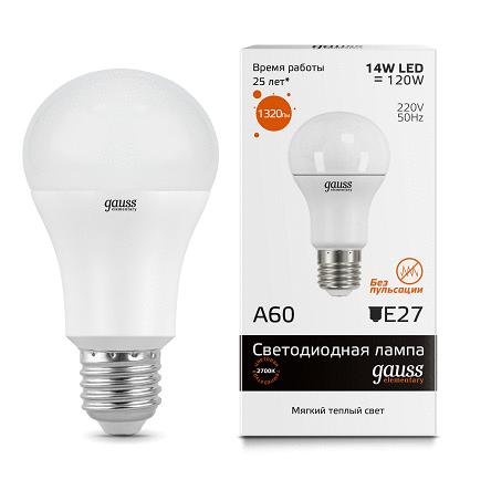 LED лампа Gauss Elementary LED A60 15W E27 2700K