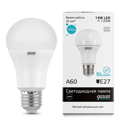 LED лампа Gauss Elementary LED A60 15W E27 4100K