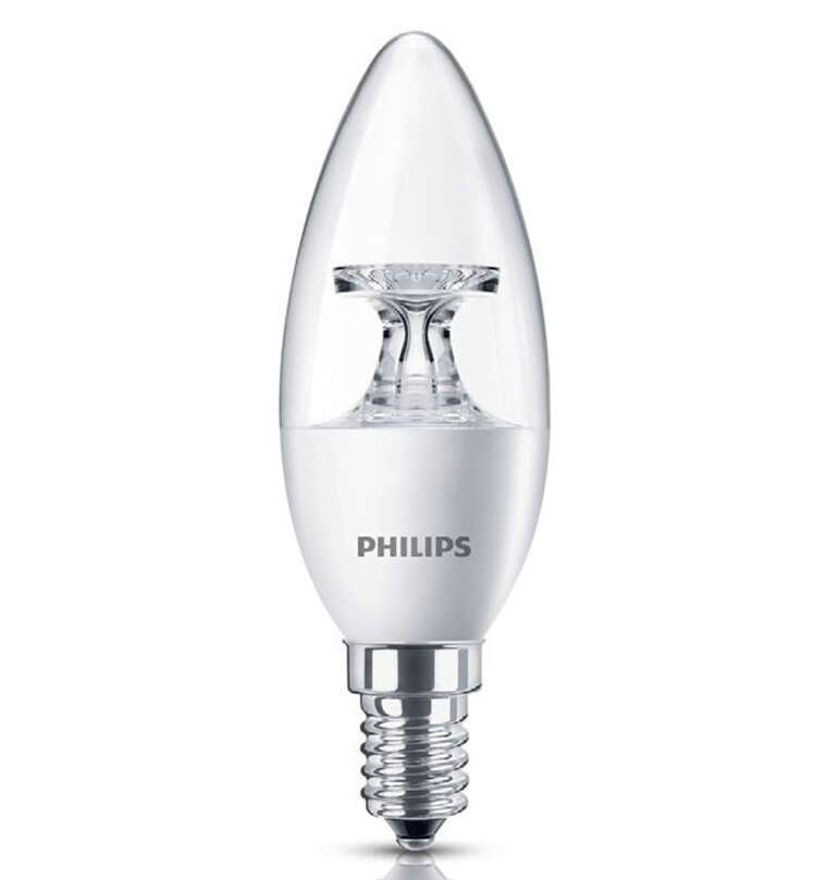 LED лампа Philips 5.5-40W E14 2700K 230V B35 CL