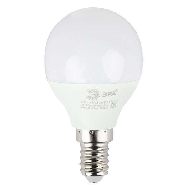 Светодиодная лампа ЭРА ECO LED Р45-6W-840-E14