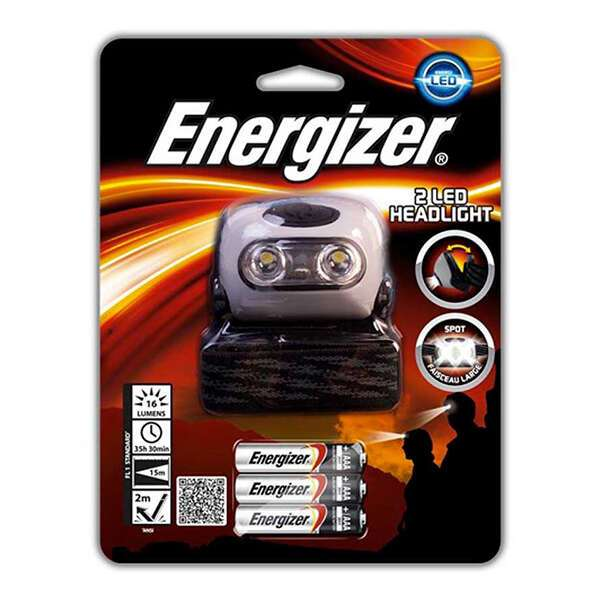 Фонарь налобный Energizer LED Headlight 2AAA tray (HD2L33A)