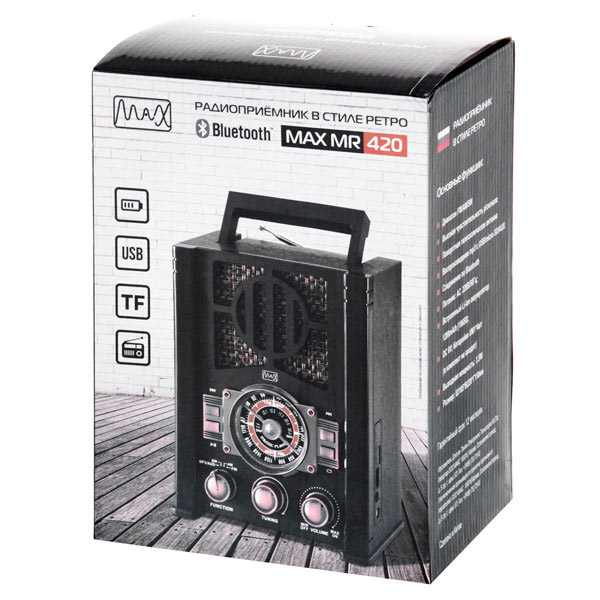 Радиоприемник  в стиле ретро MAX MR-420