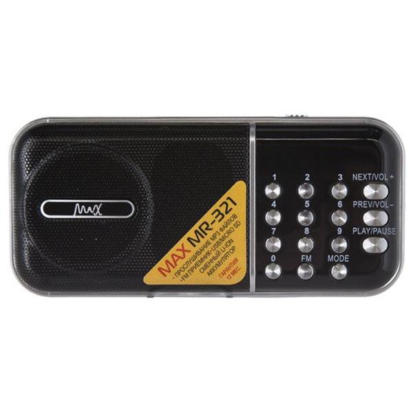 Портативный радиоприемник MAX MR-321 Серебристо-черный