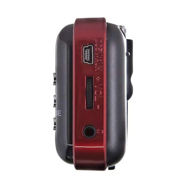 Портативный радиоприемник MAX MR-321 Красно-черный