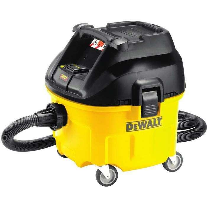 Строительный пылесос DeWalt DWV 901 L, 1400Вт, 4080л/мин, 30л, шланг 4м х 32мм, 9.5кг