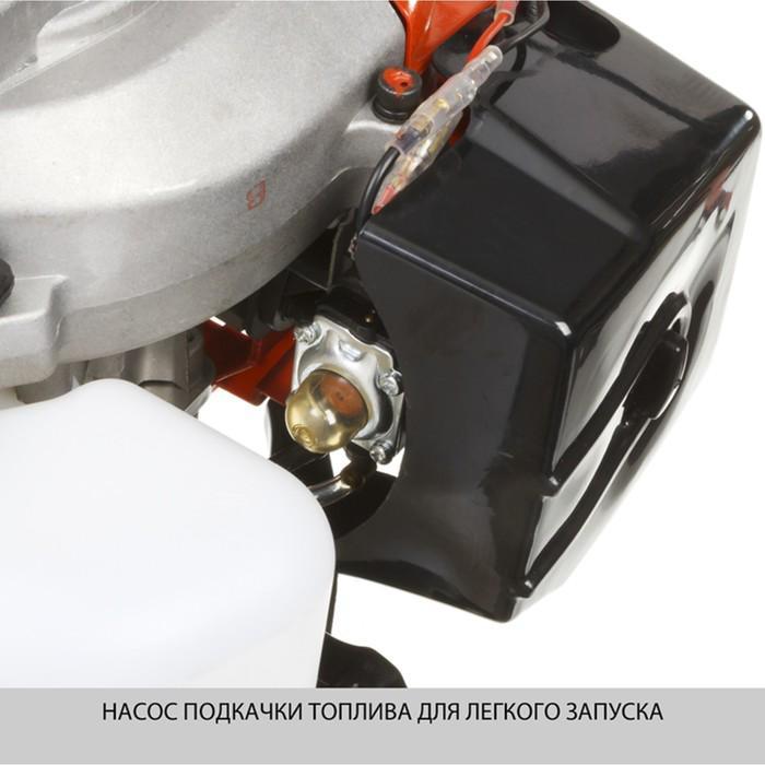 "Триммер ""ЗУБР"" КРБ-490, бенз., 1.84/1.35 л.с./кВт, 10000 об/мин, скос леска/нож 440/255 мм"