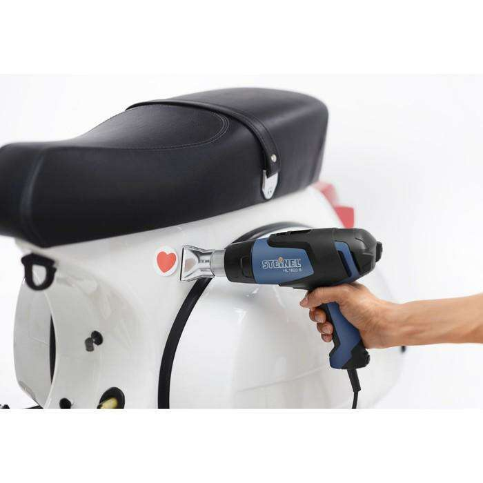 Фен технический Steinel HL 1820 S, 1800 Вт, 50/400/600 °C, 150/300/500 л/мин, 2 насадки