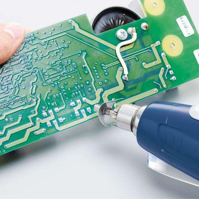 Фен технический Steinel HL Stick 4019, 350 Вт, 400-500 °C, 100 л/мин, 2.2 м, 4 насадки