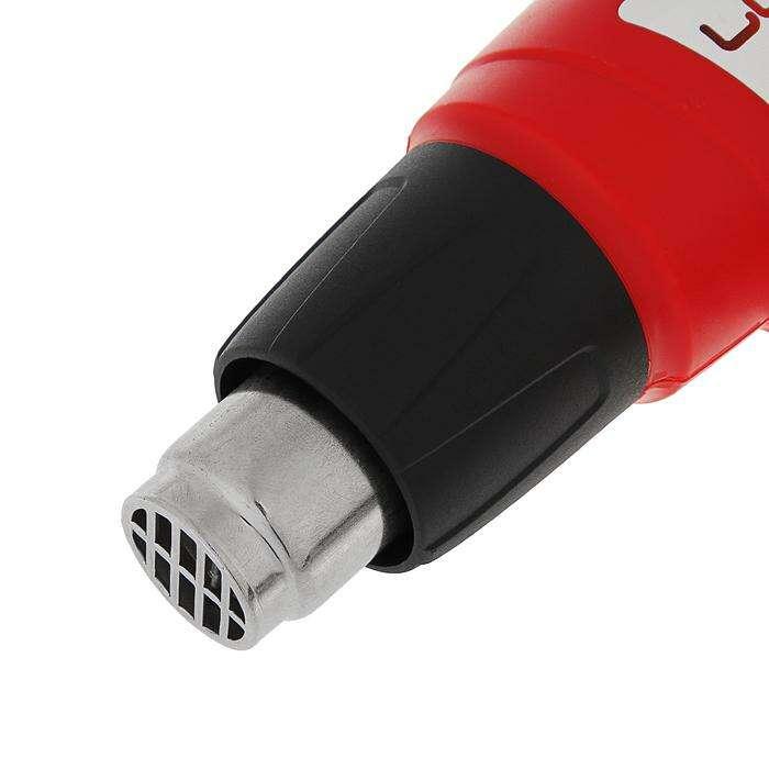 Фен технический LOM ПТ-2000ПР, 2000 Вт, 300-500 л/мин, 350/600°С, 3 насадки