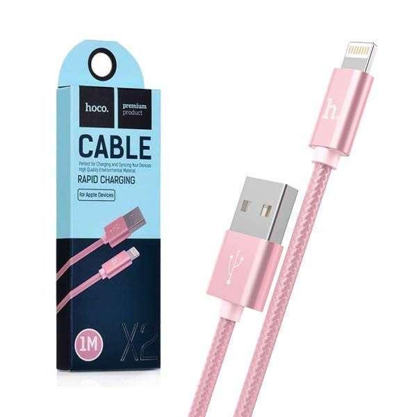 USB кабель для iPhone Hoco X2 Розовый