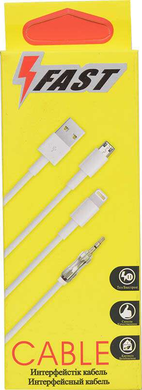 USB Кабель для iPhone A-case FAST, 1 м