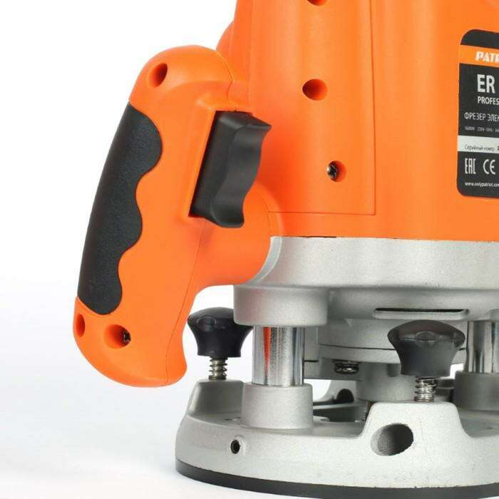 Фрезер электрический PATRIOT ER 180, 1600 Вт, 23500 об/мин, цанга 6/8/12 мм, max d=40 мм
