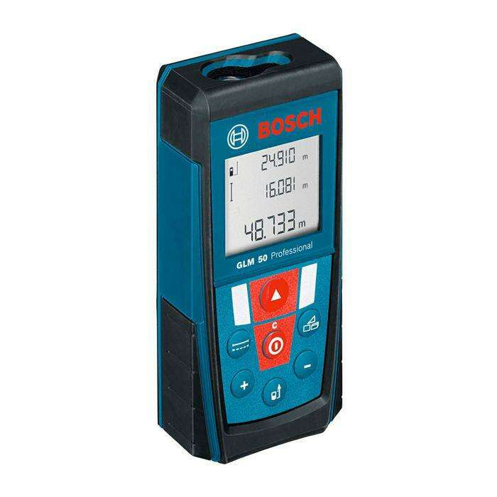 Лазерный дальномер Bosch GLM 50 (0601072200), IP54, 0,15-50м, ± 1,5мм, 3-х стр. дисплей
