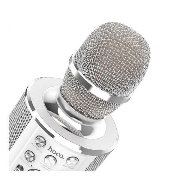 Микрофон Hoco BK3 Cool sound KTV (серебристый)