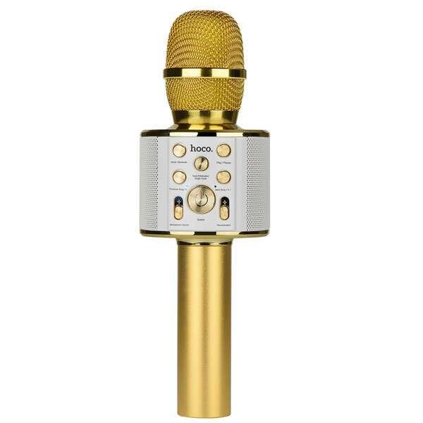 Микрофон Hoco BK3 Cool sound KTV (золотистый)
