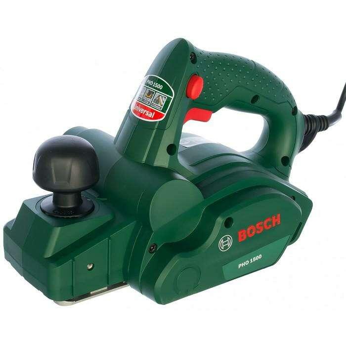 Рубанок Bosch PHO 1500 (0.603.2A4.020), 550 Вт, ширина строгания 82 мм, глубина 1.5 мм