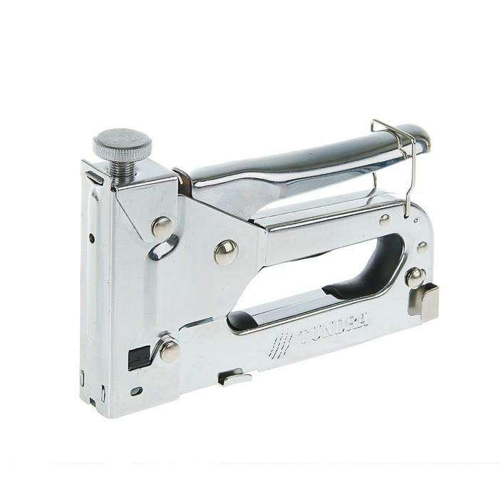 Степлер строительный TUNDRA comfort, метал. корп.,  скобы 11,3 мм, для скоб 4-14 мм