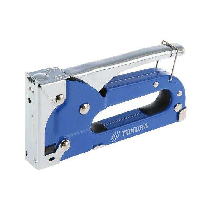 Степлер строительный TUNDRA comfort, метал. корп., скобы 11,3 мм, для скоб 4-8 мм