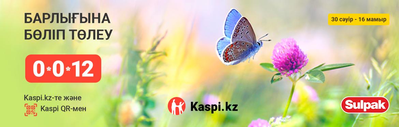 Kaspi.kz-пен 0-0-12 дейін бөліп төлеу