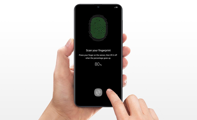 Сканер отпечатков в экране