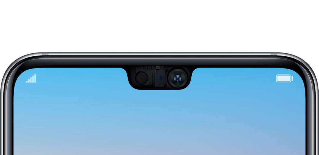 HUAWEI P20 front camera detailed view
