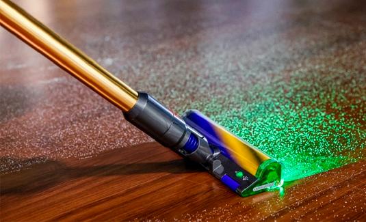 Лазерная система обнаружения пыли в новых пылесосах Dyson!